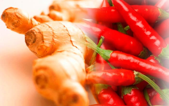 Red pepper and ginger