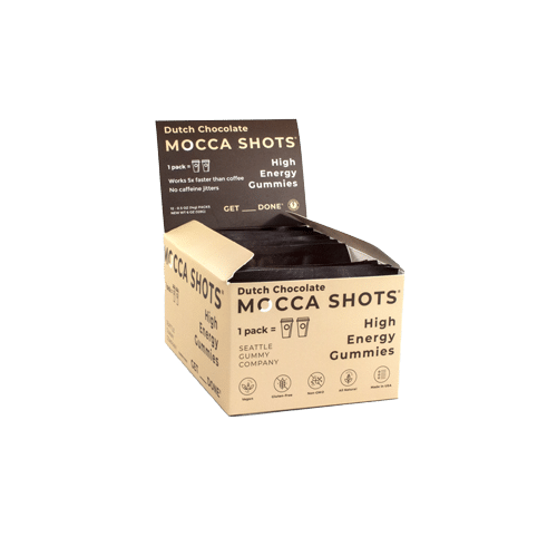 product photo for a box of dutch chocolate mocca shots