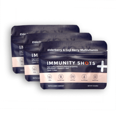 immunity shots sample pack - Elderberry & Goji Berry Immunity Shots Gummy Vitamins